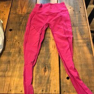 Hot pink lululemon pants